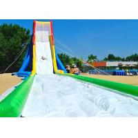 Wholesale Waterproof 0.55 Mm PVC Large Inflatable Water Slides With Single Lane For Event from china suppliers