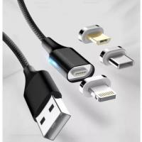 China Red Blue Black Magnetic Phone Charger Cable Compact Lighting Connector Head on sale