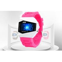 Wholesale Kids Pink PU Band LCD Digital Watches Hourly Chime 30m Water Resistant from china suppliers