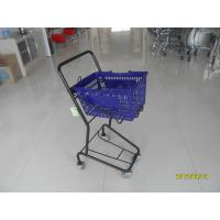 Wholesale Small Shop 4 Wheel Shopping Cart , Logo Shopping Basket With Wheels from china suppliers