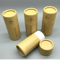 Wholesale eco-friendly custom logo printed kraft paper cylinder tube box roll edge type packaging box from china suppliers