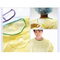 Buy cheap PP nonwoven medical gowns , green disposable isolation surgical gown for from wholesalers