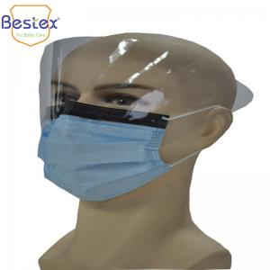 Wholesale Hosposable 4ply Type IIR Disposable Face Mask With Eye Shield from china suppliers