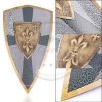 China Ancient Metal Medieval Souvenir Shield Of Charlemagne Antique Imitation Style on sale