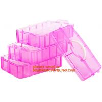 Wholesale adjustable plastic storage box plastic screw bead box, Detachable Compartments Clear Plastic Divided Storage Box for Scr from china suppliers