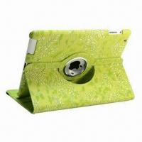 Wholesale New 360 Degrees Rotation Leather Case for iPad 2/3, Many Different Colors Available from china suppliers
