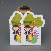 Factory Cheap Wholesale Promotional Customized hanging Paper Car Air Freshener printed in characters for sale