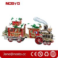 Wholesale Papercraft Train KIT Puzzle for Kids 3D Constructor for Children,3D Christmas train from china suppliers