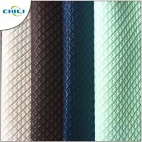 Wholesale Black Quilted Leather Fabric Environmental Friendly Furniture Upholstery from china suppliers