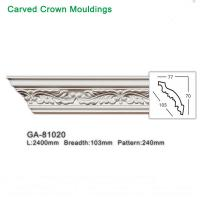 China 2400mm White Polyurethane foam cornice PU ceiling corner moulding on sale
