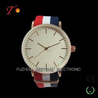 Men watches with colorful nato strap and simple design for promotion