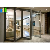 Wholesale Soundproof Sliding Exterior Commercial Glass Folding Door For Balcony from china suppliers
