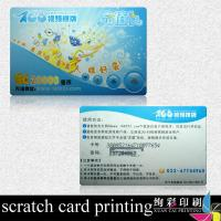 China CMYK PET / Paper Phone Scratch Card , Customized Mobile Scratch Cards on sale