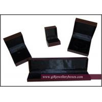 Wholesale UV coating / varnishing black sponge and velvet girls and womens Jewelry Box Set for Jewellry packaging from china suppliers