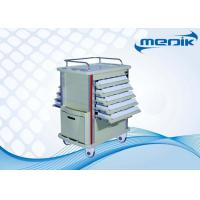 Wholesale Double Sided Trays Medical TrolleysEquipment Cart With Aluminum Columns from china suppliers