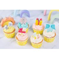 Buy cheap DIY Chocolate Cupcake Toppers , Edible Ice Cream Decorations Dry & Cool Storage from wholesalers