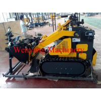 Wholesale mini track skid steer loader with 4 in 1 bucket with earth auger from china suppliers