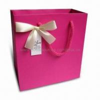 Wholesale Retail Paper Bag with Ribbon Handle, Suitable for Garments, Measures 40 x 30 x 10cm from china suppliers