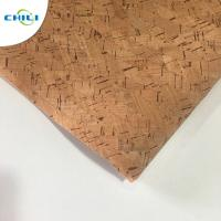 Wholesale Non Woven Cork Leather Fabric Durable Contemporary Printed Natural Color from china suppliers