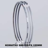 Wholesale S6D155 Gapless Piston Ring Set / Komatsu Bulldozer Engine Parts For Compression Gas Sealing from china suppliers