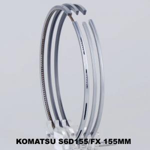 S6D155 Gapless Piston Ring Set / Komatsu Bulldozer Engine Parts For Compression Gas Sealing