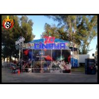 China Outdoor 7d cinema equipment dynamic seats with Beautiful 7D Cinema Cabin on sale