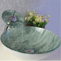 Wholesale counter bathroom glass top vanity art basin from china suppliers