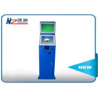 China Indoor / Outdoor Coin Counting Kiosk Billing And Paymen All In One Computer , Blue on sale