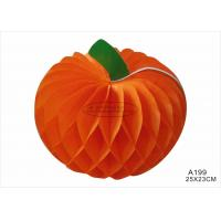 Wholesale 12 Inch Tissue Paper Halloween Decorations With Pumpkin Honeycomb Orange Black from china suppliers