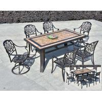 China Leisure  Garden Cast Aluminum 6 Seater Outdoor Furniture Table And Chair Set Garden Furniture on sale