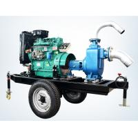 Quality trailer mounted 20hp diesel engine water pump set for agricultural irrigation 100m3 / h for sale