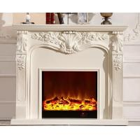 China European 1.2m Imitation Marble Fireplace Free Standing Electric Fireplaces on sale