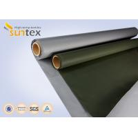 China Fiber Glass Insulation Welding Blanket Roll Silicone Rubber Coated Fiberglass Fabric on sale