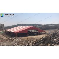 White Coated PVC Fabric Outdoor temporary aluminum warehouse storage canopy tent for wedding party for sale