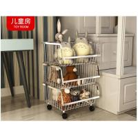 Wholesale Modern Stackable Metal Bin Basket  , Open Front Wire Storage Baskets from china suppliers