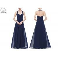 Wholesale Hanging Neck Wedding Bridesmaid Dresses , Colorful Chiffon Pleated Ball Gown from china suppliers