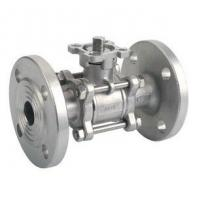 SCS13 / SCS14 JIS 10K 3PC SS Flanged Ball Valve With ISO5211 Mounting Pad