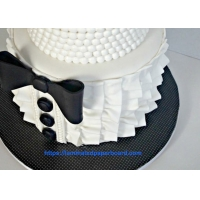 Wholesale Black and White Cake Board with Polyester PET Film Laminated White Board Cardstock for Cake Tray from china suppliers