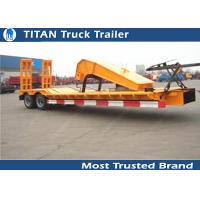 Wholesale SKD type low bed trailer truck with 2 axles , gooseneck lowboy trailers from china suppliers