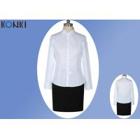 Wholesale Office Uniform Shirts For Women , Perfect Long Sleeve White Shirt With Collar from china suppliers