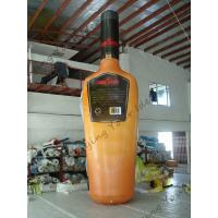 Quality Yellow Giant Inflatable Beer Bottle / Advertising Custom Inflatable Balloons for sale