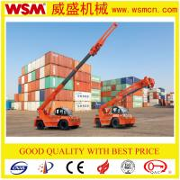 Buy cheap 12 tons telescopic boom forklift truck for unloading container from wholesalers