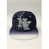 Wholesale Snapback Baseball Hat Black Dark blue Letter Embroidery Printing Gradient ramp from china suppliers