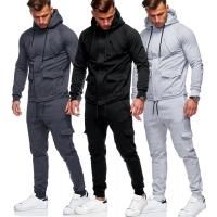 Wholesale Custom 2 Piece Sports Gym Mens Jogging Two Piece Sweat Tracksuit from china suppliers