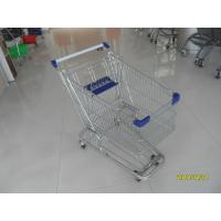Wholesale Zinc Plated 80L Supermarket Shopping Trolley With Bottom Tray And Plastic Parts from china suppliers