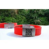 Wholesale Buy from China Emergency ID Bracelet Black, Red silicone ID wristband from china suppliers
