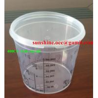 Buy cheap PP clear paint mixing cup 650cc from wholesalers