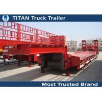 Wholesale Titan 3 axle 60 tons Payload semi low bed trailers for heavy equipment transportation from china suppliers