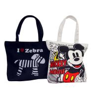 Quality Organic Plain Cotton Bags Full Zipper Different Color Pattern Shopping bag for sale