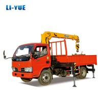 China 6 Ton Light Cargo Truck with Crane 6 Ton Wheel Truck Crane for sale on sale